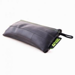 Green Guru Small Zip Pouch-Recycled Bike Tube