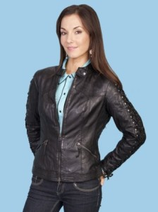 Scully Women's Lamb Skin Jacket L411-Black