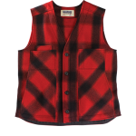 Stormy Kromer vest - red and black plaid