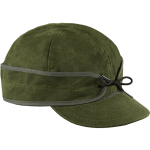 waxed cotton cap - olive