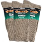 Extra wide medical socks - tan