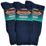 Extra wide medical socks - blue