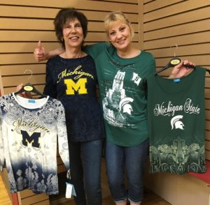 U of M and MI State tees