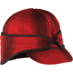 Rancher cap - red and black plaid