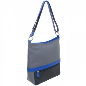 Ili handbag - blue and gray